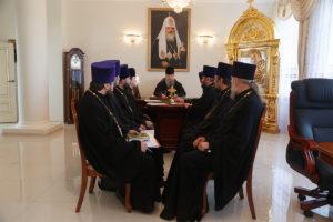 9 апреля 2019 года. епископ Корнилий провел совещание с духовенством Волгодонской епархии