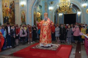 В ночь на 28 апреля 2019 года епископ Корнилий совершил  Пасхальные богослужения