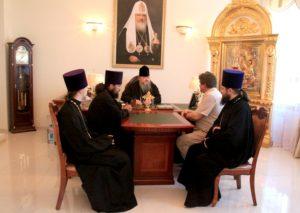 Епископ Корнилий встретился с преподавателем из Беларуси, студенты которого проходят практику в Волгодонске