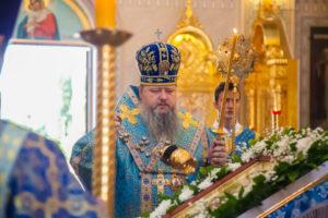 05.07.2019 г. епископ Корнилий совершил всенощное бдение в кафедральном соборе Рождества Христова города Волгодонска.