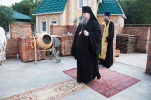 14.07.2019 — Освящение закладного камня в основание храма св. Матроны Московской (Волгодонск)