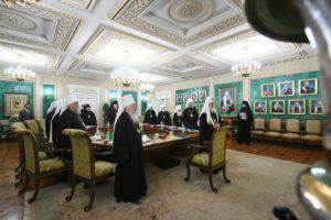 Епископ Корнилий принял участие в заседании Священного Синода РПЦ