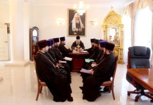 12.08.2019 — Совещание в епархиальном управлении