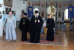 14.08.2019 – Епископ Корнилий посетил реставрируемые храмы Усть-Донецкого благочиния