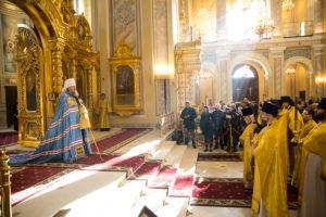 Божественная литургия в Кафедральном соборе Рождества Пресвятой Богородицы г. Ростова-на-Дону