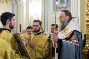 Глава Донской митрополии совершил молебен с чтением акафиста перед иконой Божией Матери «Донская» в Ростовском кафедральном соборе Рождества Пресвятой Богородицы