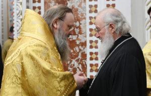 Поздравление Патриарха Кирилла с 20-летием архиерейской хиротонии митрополита Меркурия