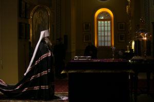 Накануне Великого поста Глава Донской митрополии совершил вечерню с чином прощения в Ростовском кафедральном соборе Рождества Пресвятой Богородицы