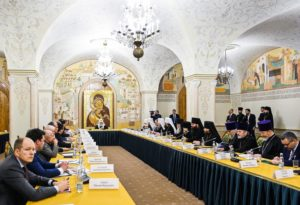 Митрополит Меркурий принял участие в собрании членов Совета попечителей Храма Христа Спасителя