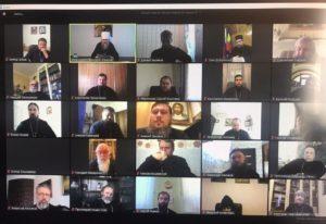 Под председательством митрополита Меркурия прошло расширенное онлайн-заседание Архиерейского совета Донской митрополии