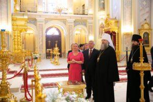 Министр культуры РФ Ольга Любимова посетила Ростовский кафедральный собор Рождества Пресвятой Богородицы