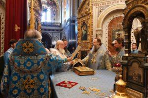 В праздник Успения Пресвятой Богородицы митрополит Меркурий сослужил Святейшему Патриарху Кириллу в Храме Христа Спасителя